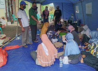 Dapur umum atau posko korban terdampak banjir dan longsor Tanjungpinang