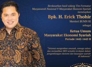 Erick Thohir Ketua Umum MES