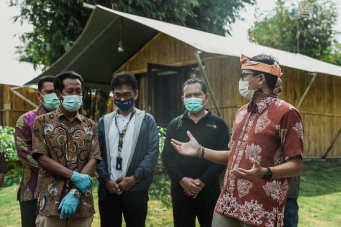 Menparekraf Sandiaga Salahuddin Uno di Desa Wisata Ekang Anculai