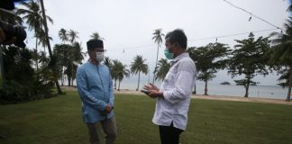 Menparekraf Sandiaga Uno dan Walikota Batam Muhammad Rudi.