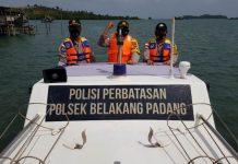 Polsek Belakang Padang menggelar patroli bersama di wilayah pesisir Batam untuk mengantisipasi cuaca ekstrim.