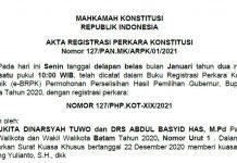 Sengketa pilkada Batam, Karimun, Lingga di MK