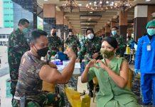 TNI AD vaksinasi