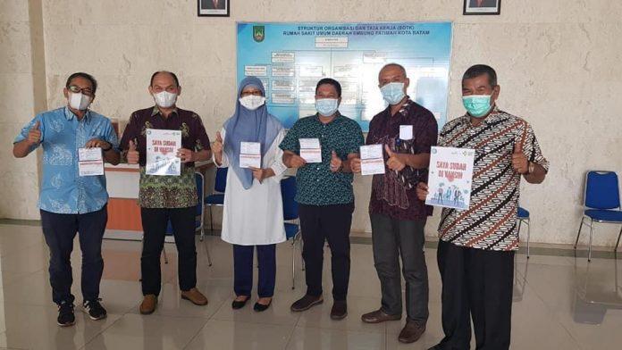 Pejabat eselon II di lingkungan Pemerintah Kota (Pemko) Batam divaksin di RSUD Embung Fatimah, Kamis (4/3/2021).