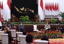 Presiden Jokowi dalam acara Rakernas Kemendag