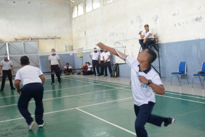 Satrol Lantamal IV menggelar lomba Badminton bertajuk Turnamen Danstrol Cup 2021.