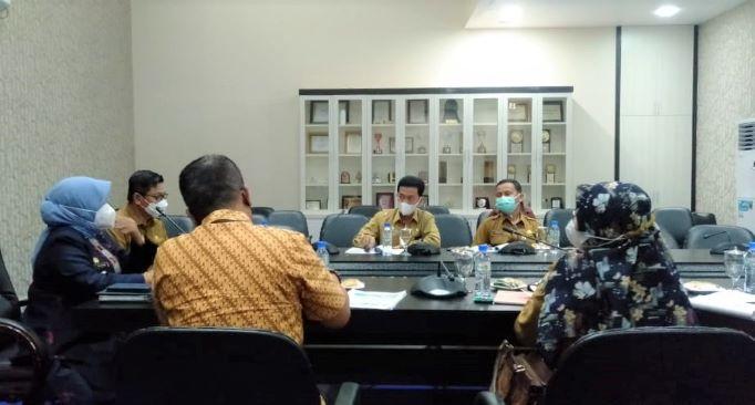 Rapat Forum Komunikasi Bersama Pemangku Kepentingan Utama Kota Tanjungpinang, Selasa (6/4/2021).