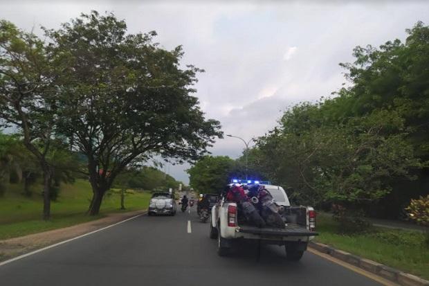 Kedua motor lakalantas di Jalan Bagan, Tanjungpiayu, Seibeduk, dibawa ke Polresta Barelang.