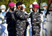 Pengukuhan Danpuslatpurmar 9 TNI AL Dabo Singkep