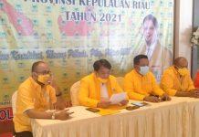 Rapat Kerja Daerah (Rakerda) DPD Partai Golongan Karya (Golkar) Provinsi Kepulauan Riau tahun 2021 dilaksanakan di Hotel Aston Batam, Minggu (4/4/2021).