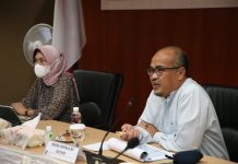 Wakil Kepala BP Batam, Purwiyanto, menerima kunjungan Direktur Pembinaan Pengelolaan Keuangan Badan Layanan Usaha (BLU), Direktorat Jenderal Perbendaharaan, Kementerian Keuangan RI, Ari Wahyuni, Jumat (9/4/2021).