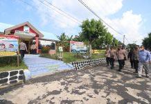 Wakapolda Kepri Brigjen Pol Darmawan melakukan kunjungan kerja dan meninjau Polsek Senayang, Lingga, Minggu (11/4/2021).