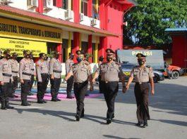Tiga personel Polresta Barelang mendapat kenaikan pangkat menjadi satu tingkat lebih tinggi atas pengabdian dan dedikasi kepada organisasi Polri yang baik dan tanpa cacat.