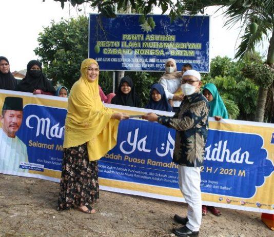 BP Batam menyambangi Panti Asuhan Restu Illahi di Kavling Sambau, Nongsa, Rabu (14/4/2021) sore.