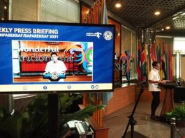 "Menparekraf Sandiaga menyampaikan perluasan hibah pariwisata dalam ""Weekly Press Briefing"" dari Gedung Sapta Pesona, Kementerian Pariwisata dan Ekonomi Kreatif (Kemenparekraf), Jakarta, Senin (12/4/2021)."