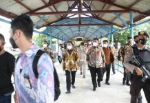 Menteri Dalam Negeri tinjau Pelabuhan Internasional Batam Center, Sabtu (8/5/2021).