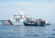 Patroli laut Kemenhub gagalkan rombangan masyarakat yang nekat mudik lewat jalur laut, Minggu (9 Mei 2021).