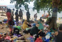 Polresta Barelang melakukan monitoring di tempat wisata di wilayah Nongsa, Kota Batam. Minggu (16/5/2021).