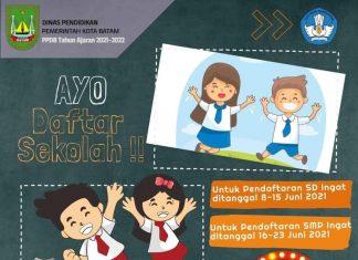 Pendaftaran murid baru SD dan SMP di Kota Batam dibuka mulai Juni