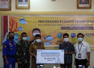 Bantuan untuk kelompok konservasi Palmatak di Anambas.