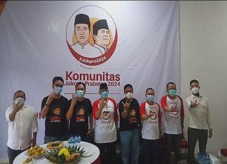 Relawan Jokowi-Prabowo (Jokpro) 2024 meresmikan sekretariat nasional di Jalan Tegal Parang, Mampang Prapatan, Jakarta Selatan, pada Sabtu (19/6/2021).