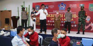 Wali Kota Batam Muhammad Rudi meninjau pelaksanaan vaksinasi, Selasa (22/6/2021).