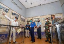 Atase pertahanan dari 21 perwakilan negara sahabat di dunia berkunjung ke Museum Batam Raja Ali Haji di Dataran Engku Putri, Batam Center, Rabu (23/6/2021).