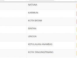 Kota Batam dan Kabupaten Karimun zona merah Covid-19.