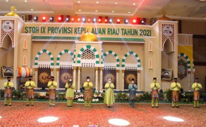 Gubernur Provinsi Kepri Ansar Ahmad membuka secara resmi STQH IX tingkat Provinsi Kepri, Selasa (27/7/2021).