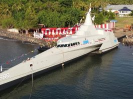 KRI Golok-688, kapal perang berteknologi siluman dan tidak terdeteksi radar bakal ditempatkan di Natuna.