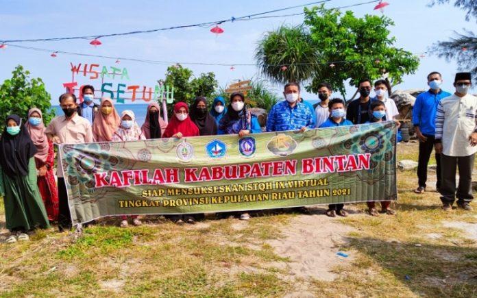 Kafilah Bintan melakukan rihlah (perjalanan) ke Tanjung Setumu, Pulau Dompak, Tanjungpinang.