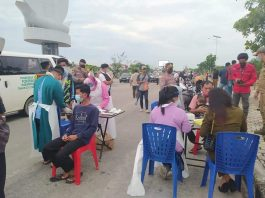 Pelaksanaan rapid antigen acak di sejumlah tempat keramaian di Kabupaten Karimun, Rabu (18/8/2021).