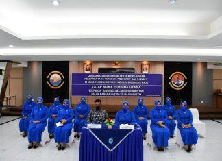 Danlantamal IV Tanjungpinang Laksamana Pertama TNI Indarto Budiarto secara vitual mengikuti acara tatap muka bersama Kasal Laksamana TNI Yudo Magono, Jumat (13/8/2021).