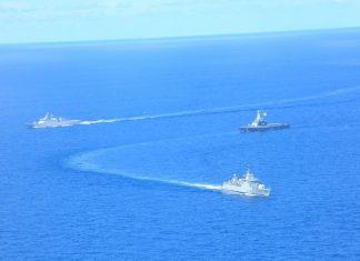 Kapal perang TNI AL Indonesia dan Singapura latihan perang di Laut Natuna