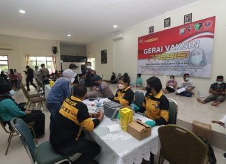Vaksinasi Presisi di Mako Brimob Polda Kepri di Tembesi, Batam, Rabu (8/9/2021).