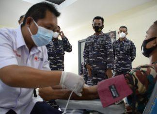 Pangkalan Utama TNI Angkatan Laut (Lantamal) IV Tanjungpinang menggelar aksi donor darah kepada siswa Dikmaba dan Dikmata di Satdik 1 Kodiklatal Tanjung Uban, Bintan, Kepri, pada Kamis (9/9/2021).