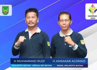 Wali Kota Batam, Muhammad Rudi dan Wakil Wali Kota Batam, Amsakar Achmad
