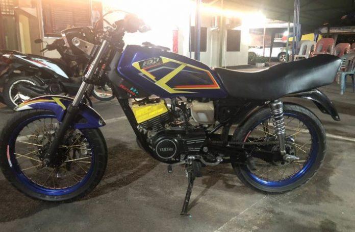 Barang bukti yang diamankan dalam pengungkapan kasus curanmor di Pelita, 1 unit motor Yamaha RX-K.