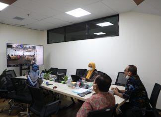 Kerja di bawah Anggota Bidang Pengusahaan BP Batam melaksanakan workshop service Excellence secara daring melalui zoom meeting, Rabu (15/9/2021).