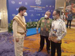 Wakil Menteri Luar Negri Mahendra Siregar menutup perhelatan akbar Global Tourism Forum(GTF) Leaders Summit Asia