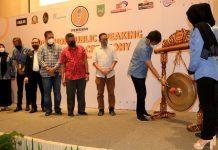 Wali Kota Batam, Muhammadn Rudi, membuka Workshop Public Speaking dan Master of Ceremony di Harris Hotel Batamcenter, Sabtu (26/9/2021).