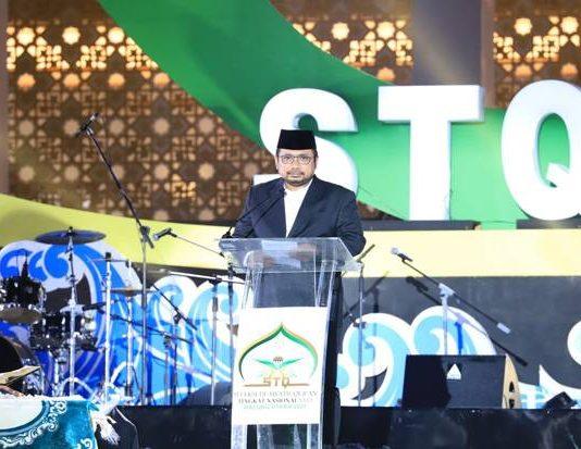 Menteri Agama Yaqut Cholil Qoumas membuka Seleksi Tilawatil Qur'an dan Hadis (STQH) Tingkat Nasional ke-26.