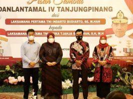 Wali Kota Batam, Muhammad Rudi, hadir dalam pisah sambut Danlantamal IV Tanjungpinang di Gedung Daerah Kepri, Senin (4/10/2021) malam.