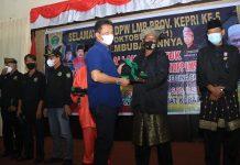 Wali Kota Batam, Muhammad Rudi saat menghadiri HUT DPW Laksar Melayu Bersatu di Tanjung Balai Karimun, Sabtu (16/10/2021).